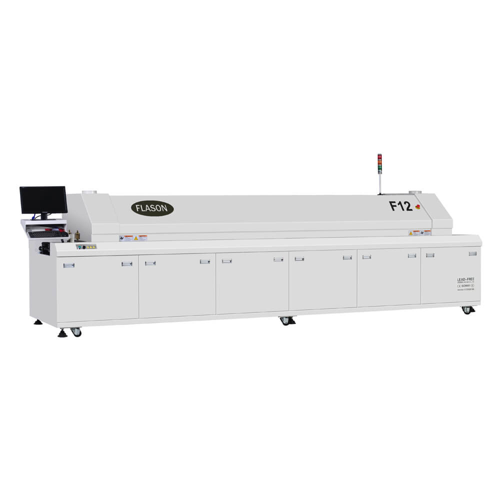 Hot air Lead free 12 heating zones Reflow oven for SMT assembly line